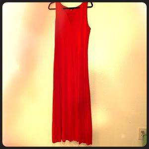 Vince Camuto Sleeveless Bright Red Maxi Dress!